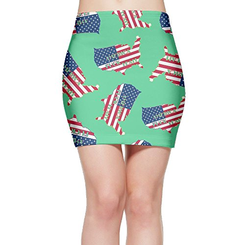 SKIRTS WWE America-F-CK-YEAH2 Women Slim Fit High Waisted Mini Short Skirts by SKIRTS WWE