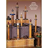 Vickie Jean's Creations 0220132 - ''Set of 9 Antique English Wood Spool Collection'' Candelabra Screw Base Light Bulb