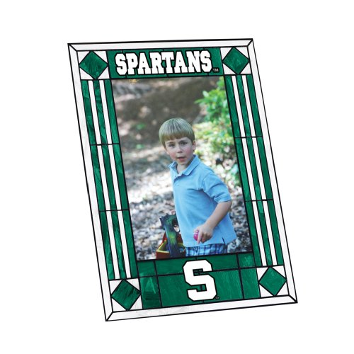 NCAA Michigan State Art Glass Frame (Glass State Frame Art)