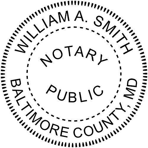 Maryland Notary Stamp by Holmes Stamp & Sign