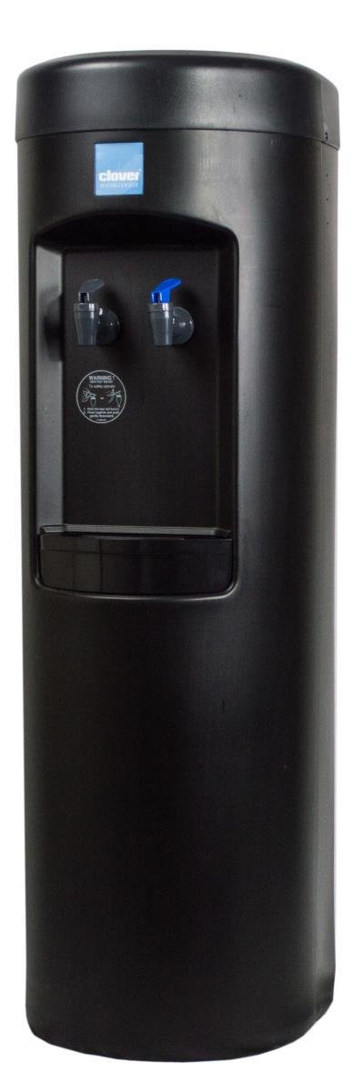 Clover B7B Room Temp and Cold Bottleless Water Cooler with Conversion Kit, Black