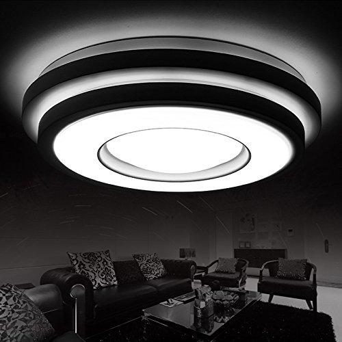 BLYC- Schlanke, minimalistische Kunst kreative Wohnzimmer Lampe warm atmosphärische Persönlichkeit LED Decke Lampe dimmer Master-Schlafzimmer Lampe Durchmesser 530/640/880 mm hoch 120mm , diameter 64cm