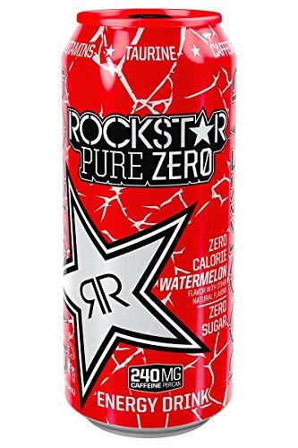 Rockstar Energy Drink, Purezero Watermelon, 16 Ounce (Pack of 24)