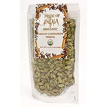 Pride Of India - Organic Indian Spice Packs (Organic Green Cardamom Whole (3.53oz - 100gm))