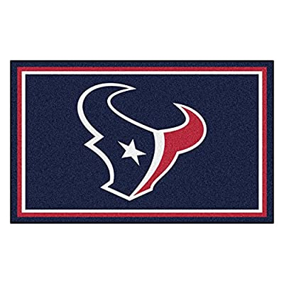 FANMATS NFL Houston Texans Nylon Face 4X6 Plush Rug