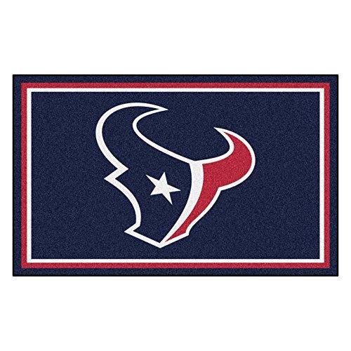 (FANMATS NFL Houston Texans Nylon Face 4X6 Plush Rug )
