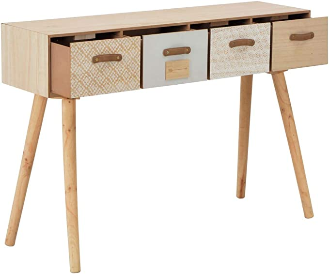 Tidyard Table Console Table Industrielle 110x50x35 cm Bois de Manguier Solide et Acier Noir et Marron Table de Salle /à D/îner