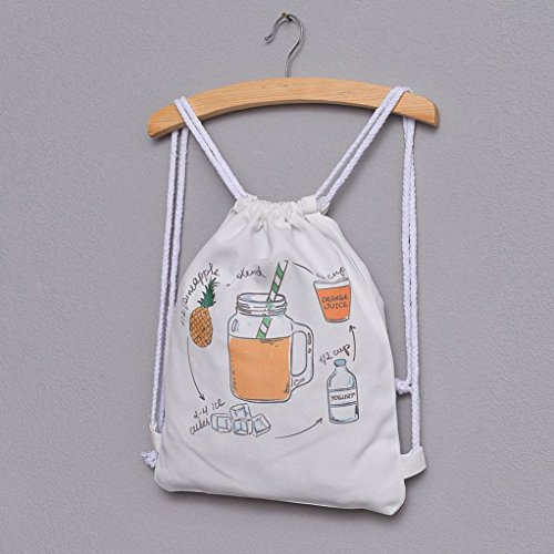 Women For drink Pineapple Canvas Cute Shoulder and Drawstring Messenger Bag Cats Bag Tote Handbags Cold Three Print Girls Crossbody Bags NXDA O6RwqfBf