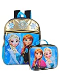 Best Frozen Backpacks - Disney Girls' Frozen Black/Gold Lunch Kit Backpack, Blue Review