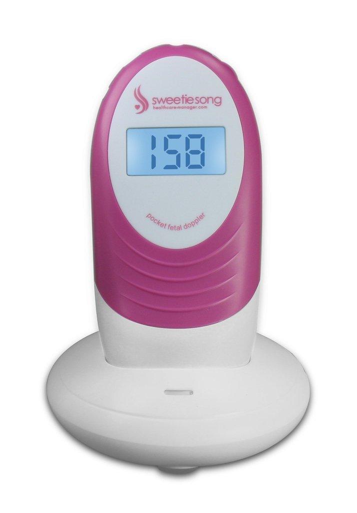 SweetieSong 2.5mhz Pocket Fetal Doppler (100S5 prenatal baby heart monitor)