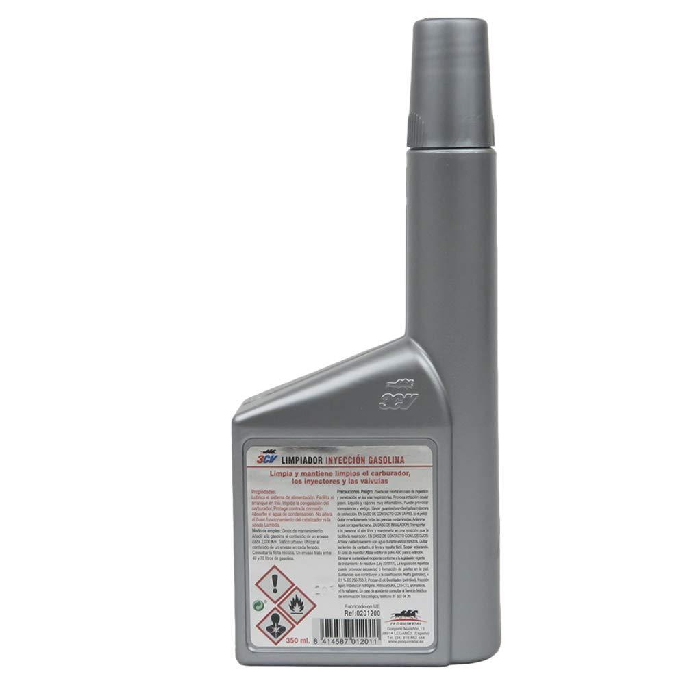 3CV Limpiador de inyectores | Limpia inyectores 350 ML (Solo Motores Gasolina): Amazon.es: Coche y moto