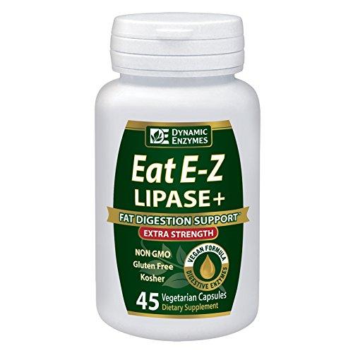 Eat E-Z Lipase+ (45 vegan capsules) - Keto diet, digestive enzyme formula, fat digestion, lipid metabolism, omega fatty acid absorption, ketogenic, weight loss, lipase