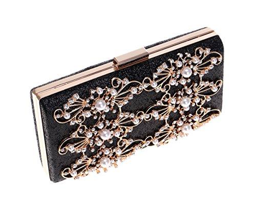 Purse Rhinestone Bag Lwzy Bag For Clutch Evening Black Evening Diamond Women Rhinestone 7F7ga