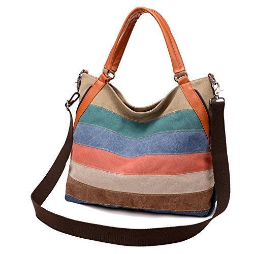 Bolso de la lona de costura,Bolso de hombro de las señoras Bandolera Bolso Balas simples-A A
