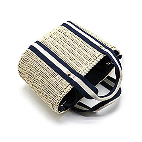 Handbag Braided Crossbody Bag Sling Bag luoyu Bag for Bag Straw Storage Shoulder Bag Versatile Beach Women Shoulder Style2 Bag Woven Su Bag O7YUqZZw
