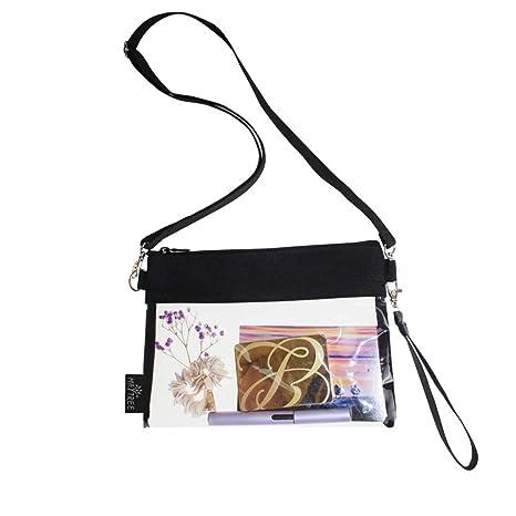 Amazon.com: Welinkbag - Bolso transparente con cremallera ...