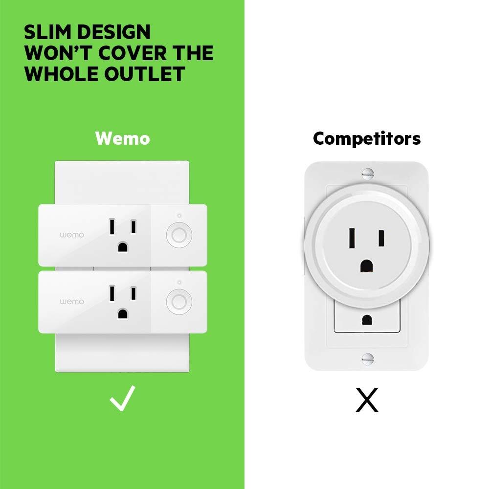 Wemo Mini Smart Plug (2-Pack), Wi-Fi Enabled, Works with Amazon Alexa (F7C063-RM2) (Certified Refurbished) by WeMo (Image #7)