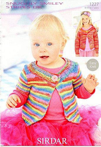 Cardigans in Snuggly Smiley Stripes DK - Sirdar Knitting Pattern ()