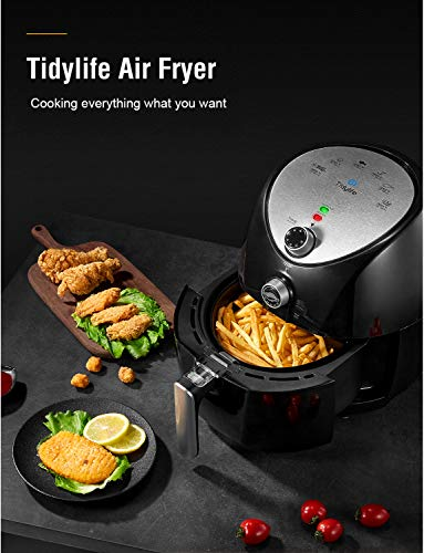 Air Fryer, Tidylife 4.5 Qt AirFryerXL with Smart Time & Temperature Control, 1500W Nonstick Basket HotAirFryer with 50+ Recipes by Tidylife (Image #8)
