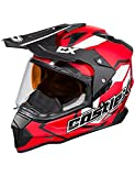 Castle X Mode Dual-Sport SV Team Snowmobile Helmet (XLG, Red)