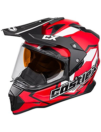 Castle X Mode Dual-Sport SV Team Snowmobile Helmet (XLG, Red) by Castle X (Image #3)