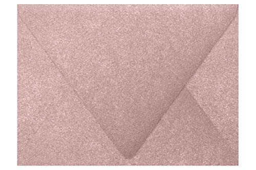 - A7 Contour Flap Envelopes (5 1/4 x 7 1/4) - Misty Rose Metallic - Sirio Pearl (50 Qty) | Perfect for Invitations, Greeting Cards, Thank You Cards, Announcements and so Much More | 1880-M203-50