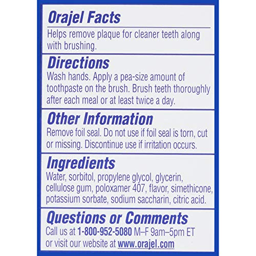 51ztdl%2B%2BRUL - Orajel Paw Patrol Fluoride-Free Training Toothpaste, Fruity Fun Flavor, One 1.5oz Tube: Orajel #1 Pediatrician Recommended Brand For Kids Non-Fluoride Toothpaste