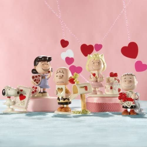 Lenox Peanuts Valentine s Day Figurines Charlie Brown Snoopy Lucy Linus
