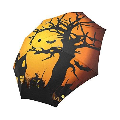 your-fantasia Pumpkin Halloween Auto Open Close Folding Waterproof Fabric Travel Umbrella for $<!--$22.99-->