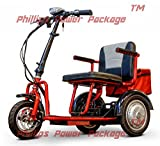 E-Wheels - EW-85 - Mini Scooter - 3-Wheel - Red - PHILLIPS POWER PACKAGE TM - TO $500 VALUE