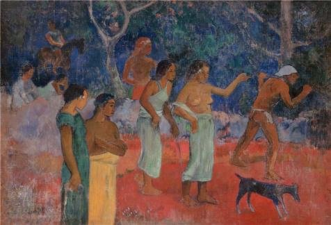 Oil Painting 'Gauguin, Paul - Scene From Tahitian Life' Printing On High Quality Polyster Canvas , 18x26 Inch / 46x67 Cm ,the Best Home Theater Artwork And Home Gallery Art And Gifts Is This Amazing Art Decorative Canvas Prints