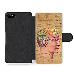 Phrenology Hipster Retro Design Stylish Rustic Paper Print Faux Leather case for iPhone 4 4S