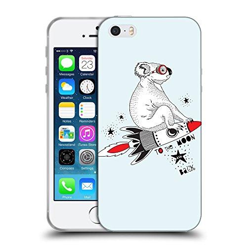 GoGoMobile Coque de Protection TPU Silicone Case pour // Q05240619 Koala volant Bulles // Apple iPhone 5 5S 5G SE
