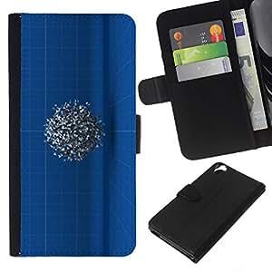 WINCASE Cuadro Funda Voltear Cuero Ranura Tarjetas TPU Carcasas Protectora Cover Case Para HTC Desire 820 - diseñar dibujo misteriosa 3D