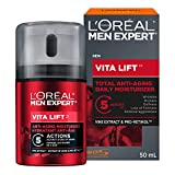 L'Oreal Paris Men Expert Vita Lift 5, Complete Anti-Aging Daily Moisturizing Cream With Pro-Retinol, For Aging Skin, 50ML