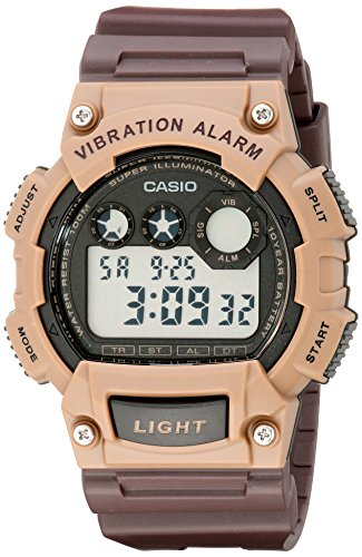 Casio W 735H 5AVCF Vibration Alarm Digital