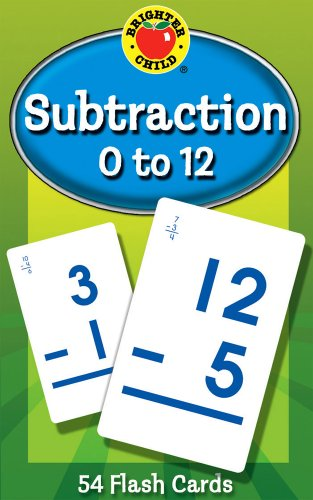 Subtraction 0 to 12 Flash Cards (Brighter Child Flash Cards) ()