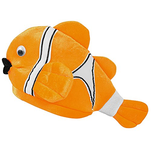 Clown Fish Costume Hat - Funny Dress Up Hats - Novelty Hats by Funny Party (Ocean Related Costumes)