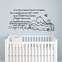 Wall Decals Quotes Winnie the Pooh Quote - Braver Stronger Smarter - Kids Boys Girls Nursery Baby Room Wall Vinyl Decal Stickers Bedroom Murals