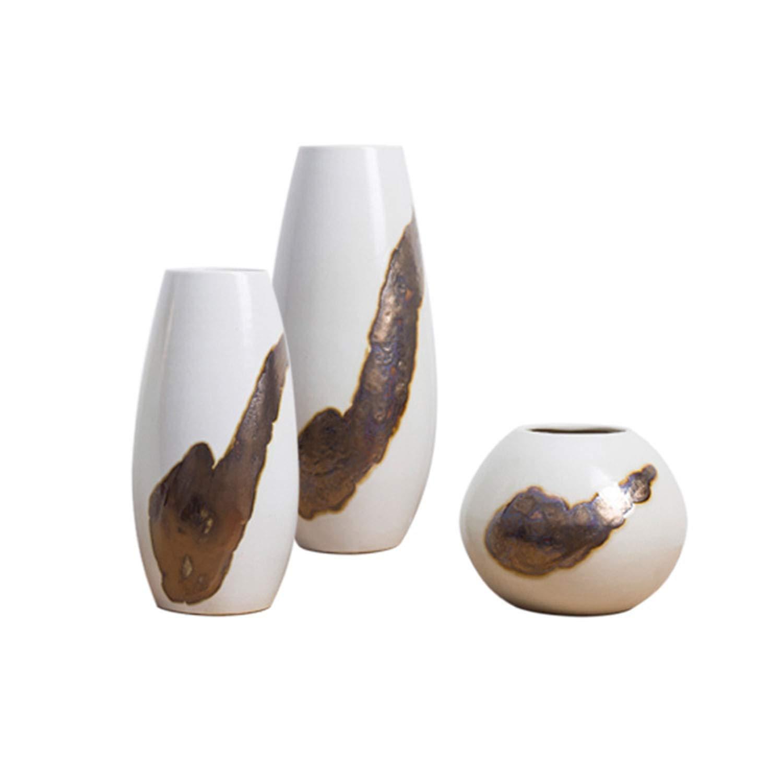 現代的なミニマリストの手作りセラミック花瓶、創造的な家の装飾の装飾品、スリーピースのスーツ B07SPRBCTB