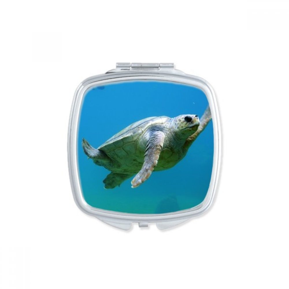 Marine Organism Turtle Ocean Animal Square Compact Makeup Mirror Portable Cute Hand Pocket Mirrors Gift