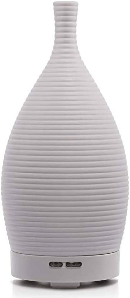 LinkLvoe Air Humidifier,Ceramic Ultrasonic Aromatherapy Diffuser Essential Oil Purifier Diffuser Travel Office Hotel Household with No Water Bottle