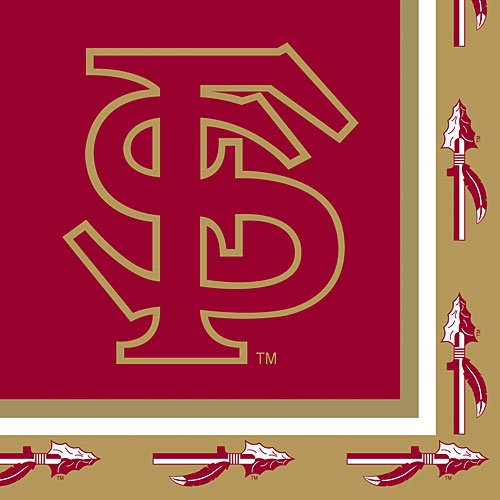 State Paper Florida Seminoles - 20-Count Paper Lunch Napkins, Florida State Seminoles