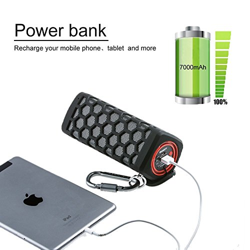 Amazon.com: Hapyia Hi-fi Waterproof Wireless Bluetooth Speaker ...