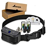 Naturepets Bark Collar Small Medium Large Dogs Anti Barking Shock, Humane Training Rainproof Device, Vibration Shock and Beep Harmless Control for Dogs Over 6 lbs
