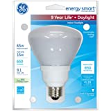 GE Lighting 78950 Energy Smart CFL 15-Watt (65-watt replacement) 650-Lumen R30 Floodlight Bulb with Medium Base, 1-Pack