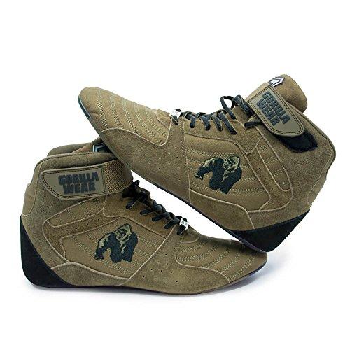 Gorilla Dragen Perry Hoge Toppen Pro - Legergroen / Army Green - Bodybuilding En Fitness Schoenen Voor Vrouwen En Mannen