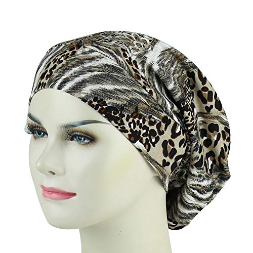 Satin Stylish Solid (Comfortable Satin Lined Sleep Cap Smooth Fabric Hats For Curly Hair)