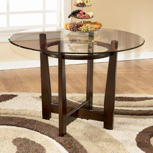Signature Design by Ashley D357-15 Charrell Collection Dining Room Table, Medium Brown - Dining Room Round Accent Table