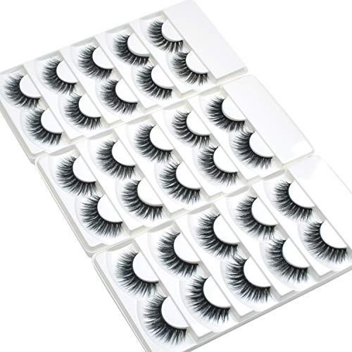 Wleec Beauty 3D Faux Mink False Lashes Handmade Natural Eyelash Pack #3D/81 (15 Pairs/3 Pack)